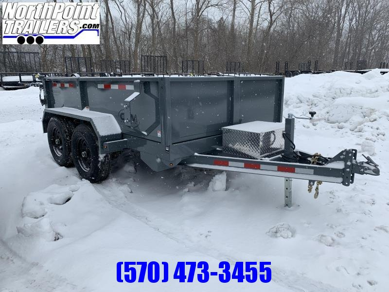 2021 CAM Advantage 6x10 Dump Trailer - 10K GVWR - GRAY