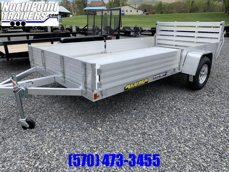 2022 Aluma 8112SR ATV/Utility Trailer - Solid Side w/ Side Load Ramps- Bi-Fold Gate