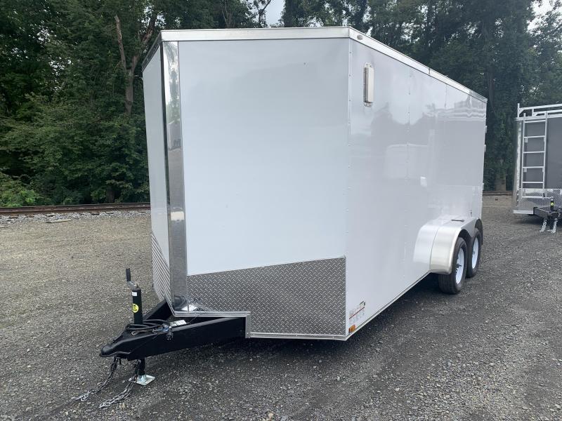 "2021 Spartan 7x16TA Cargo Trailer - White - 6'6"" INTERIOR"
