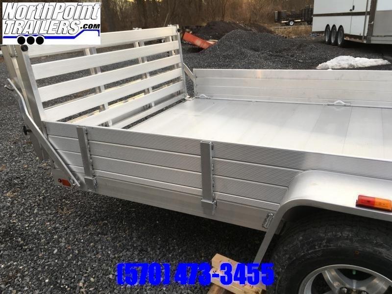 "2022 Aluma 81"" x 14' SR ATV - Utility Trailer - Side load ramps w/ Bi-Fold Tailgate"