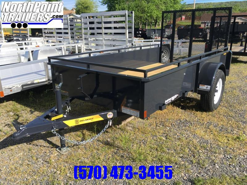 2021 Belmont Machine UT510SS Solid Side Utility Trailer **Charcoal**