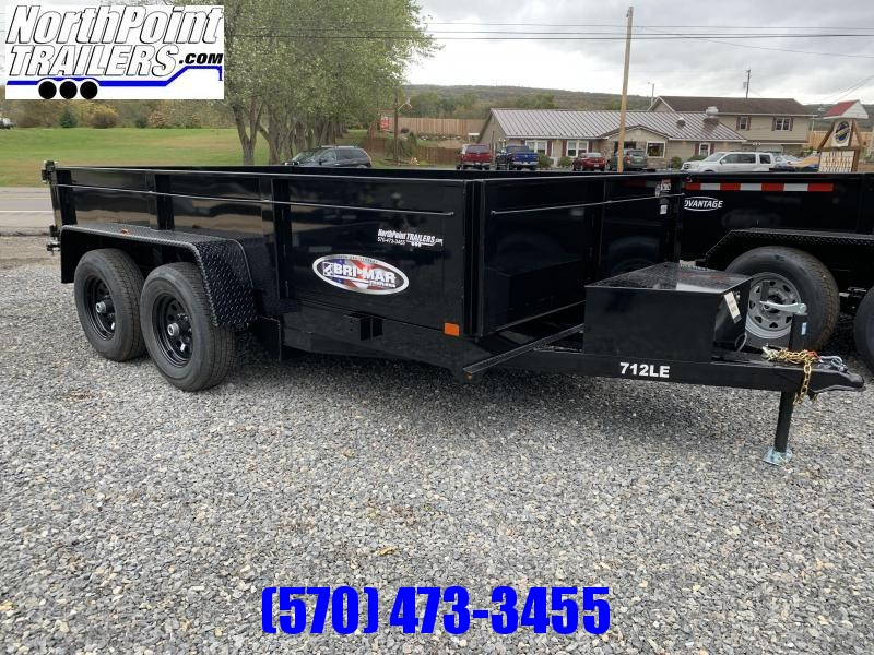 2020 Bri-Mar 7x12' 10K Dump Trailer w/ Ramps