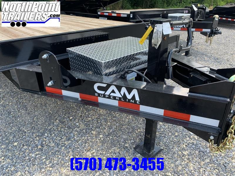 2021 Cam Superline 7CAM820+4 - 24' Deckover Trailer - 14000# GVWR - 7K Axles - Black