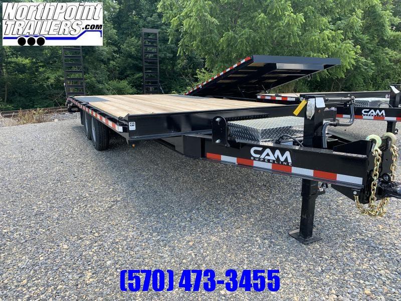 2021 Cam Superline 7CAM820+4 - 24' Deckover Trailer - 14000# GVWR - 7K Axles - Black