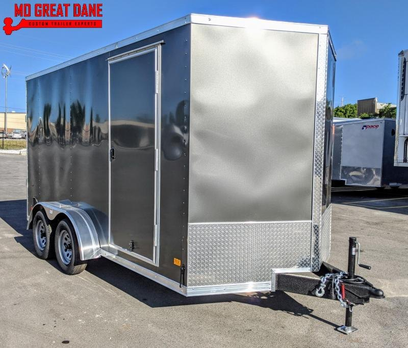 "2021 Darkhorse Cargo 7 x 14 - 84"" Interior V-Nose Cargo / Enclosed"