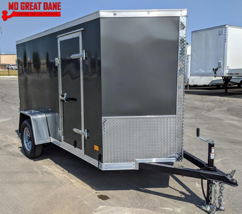 "2021 Darkhorse Cargo 5 x 10 V Nose 66"" Interior Enclosed Cargo Trailer"