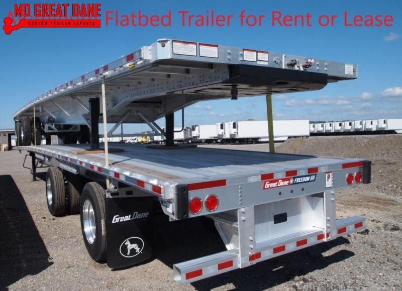 FOR RENT OR LEASE 2017 Great Dane Aluminum Flatbed Trailer Flat Bed Trailer