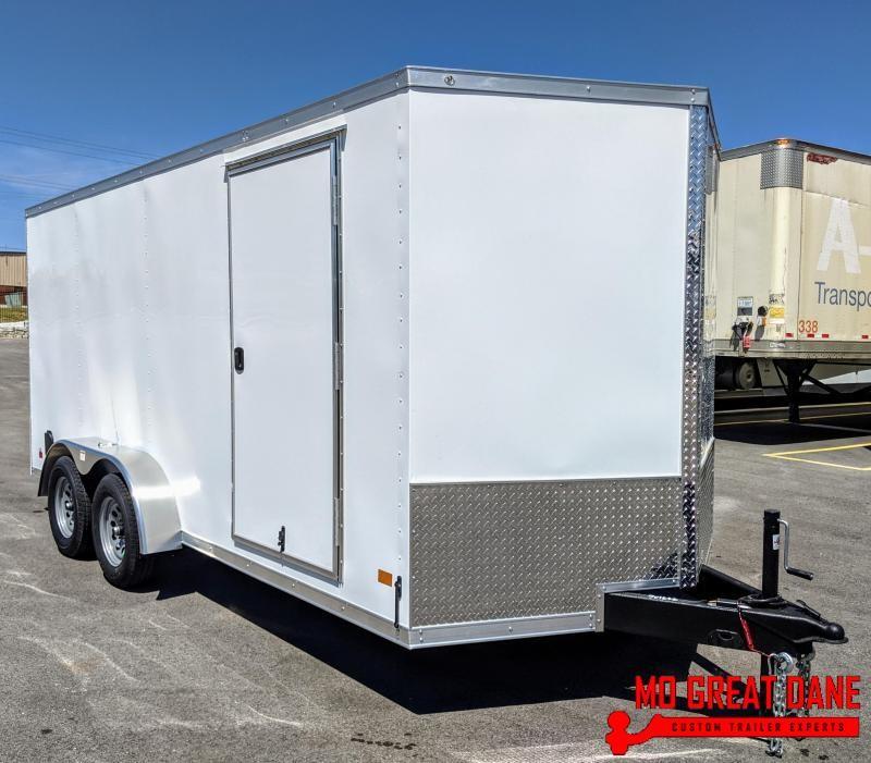 "2021 Darkhorse Cargo 7 x 16 V-nose 78"" Interior Cargo / Enclosed"