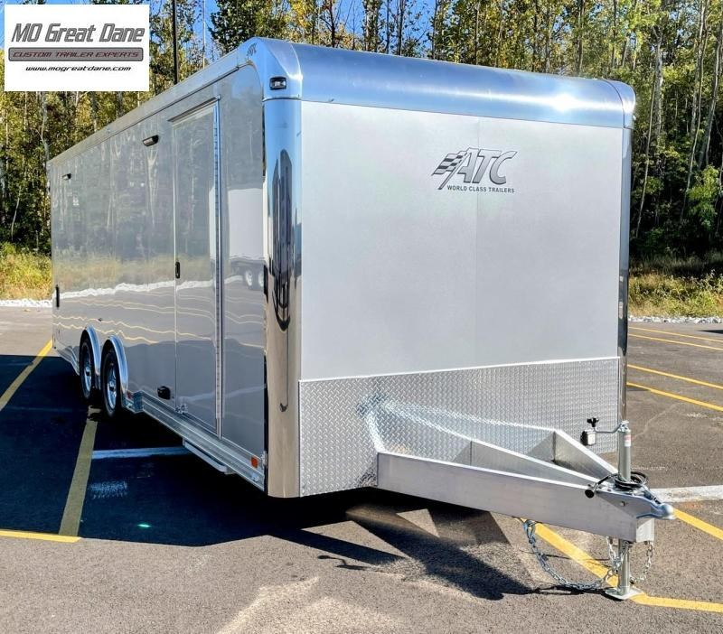2022 ATC 8.5 x 24 Quest Limited Deluxe Aluminum Car / Racing Trailer - Silver