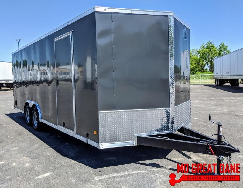 "2021 Darkhorse Cargo 8.5 x 22 Interior 84""  V-nose Car / Racing Trailer"