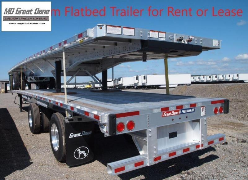 FOR RENT OR LEASE 2017 Great Dane Aluminum Flatbed Trailer Flat Bed  Semi Trailer