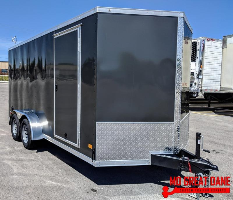 "2021 Darkhorse Cargo 7 x 16 V-nose 78"" Interior Cargo / Enclosed"