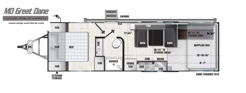 2022 ATC (2816) Game Changer Front Bedroom Aluminum Toy Hauler RV EXPECTED COMPLETION NOVEMBER