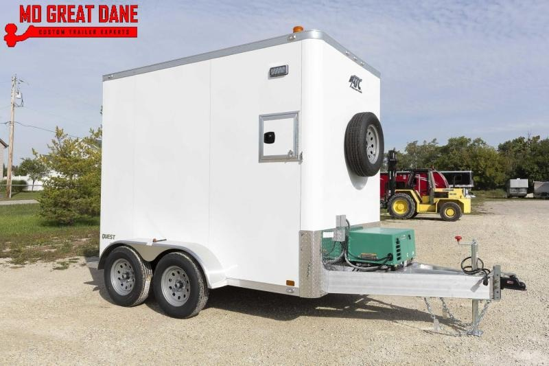 2021 ATC QUEST 6 X 10 Aluminum Fiber Optic Splicing Trailer
