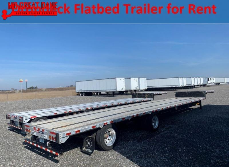 FOR RENT OR LEASE 48' Dropdeck Flat Bed Trailer
