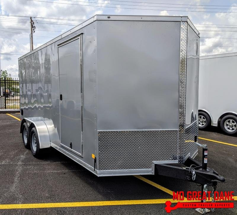 "2021 Darkhorse Cargo 7 x 14 V-nose 78"" Interior Cargo / Enclosed"