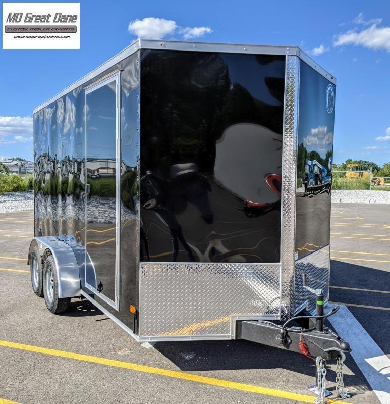 "2022 Darkhorse Cargo 7 x 14 V nose 84"" Interior Cargo Enclosed"