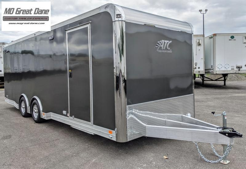 2022 ATC 8.5 x 24 Quest Limited Aluminum Car / Racing Trailer EXP COMPLETION DECEMBER - Charcoal