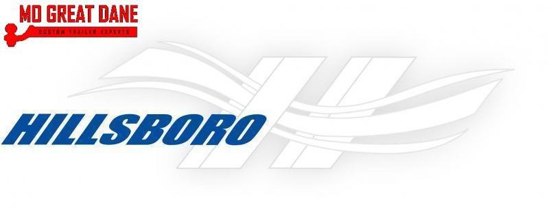 2021 Hillsboro Industries AU78x12 Aluminum BI-Fold Gate Open Utility Trailer