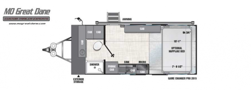 2022 ATC (2015) Pro Series Front Bath Aluminum Toy Hauler RV EXPECTED COMPLETION NOVEMBER