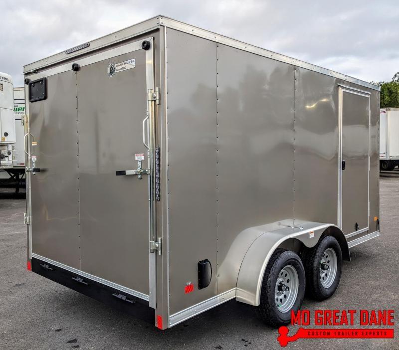 "2020 Darkhorse Cargo 7 x 14 V-nose 78"" Interior Cargo / Enclosed"