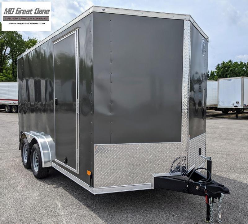 "2022 Darkhorse Cargo 7.5 x 14 V-nose 84"" Interior Cargo / Enclosed"