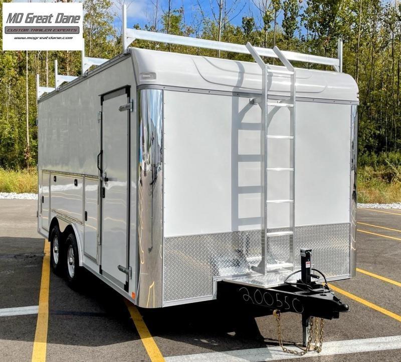 2022 United Trailers UXT-8.5 x 16 Tool Crib Enclosed Cargo Trailer (BARN DOORS)