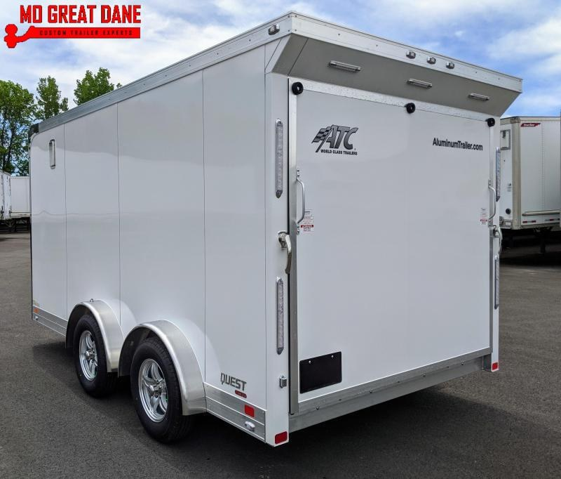 2021 ATC QUEST 7.5 x 14 MC300 Aluminum Motorcycle Trailer