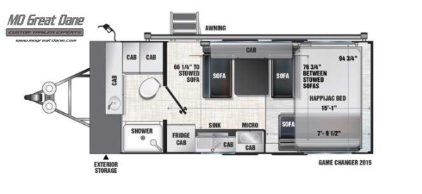 2022 ATC (2015) Game Changer Front Bath Aluminum Toy Hauler RV EXPECTED COMPLETION JANUARY