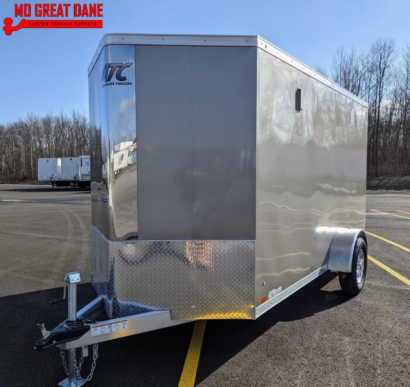 2021 ATC RAVEN 6 x 12 V-Nose Aluminum Cargo / Enclosed Trailer EXP COMPLETION JULY