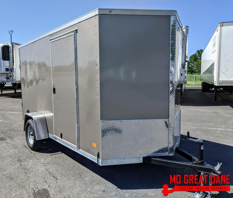 2020 Darkhorse Cargo 6 x 12 V-Nose Enclosed Cargo Trailer