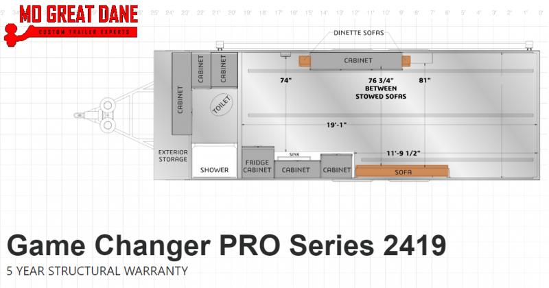 2021 ATC (2419) Pro Series Front Bath Aluminum Toy Hauler RV