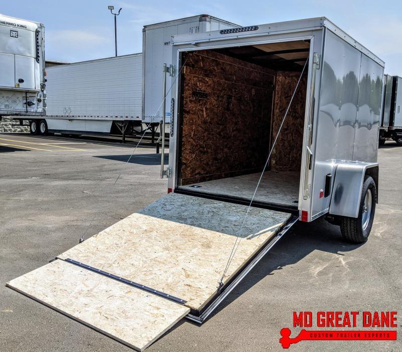 2021 Darkhorse Cargo 5 x 8 V-Nose Enclosed Cargo Trailer