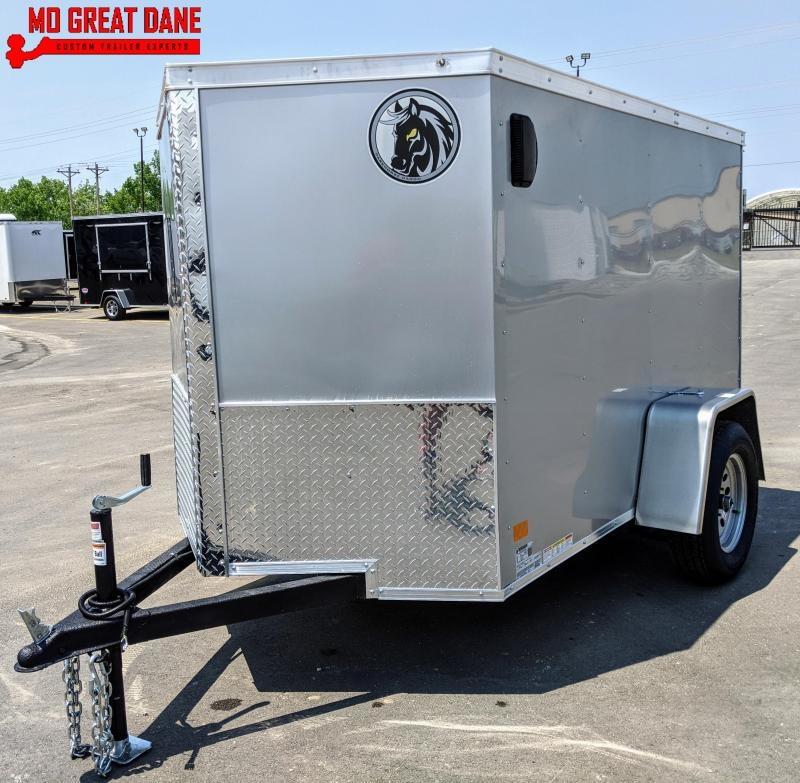 2021 Darkhorse Cargo 5 x 8 V Nose Enclosed Cargo Trailer