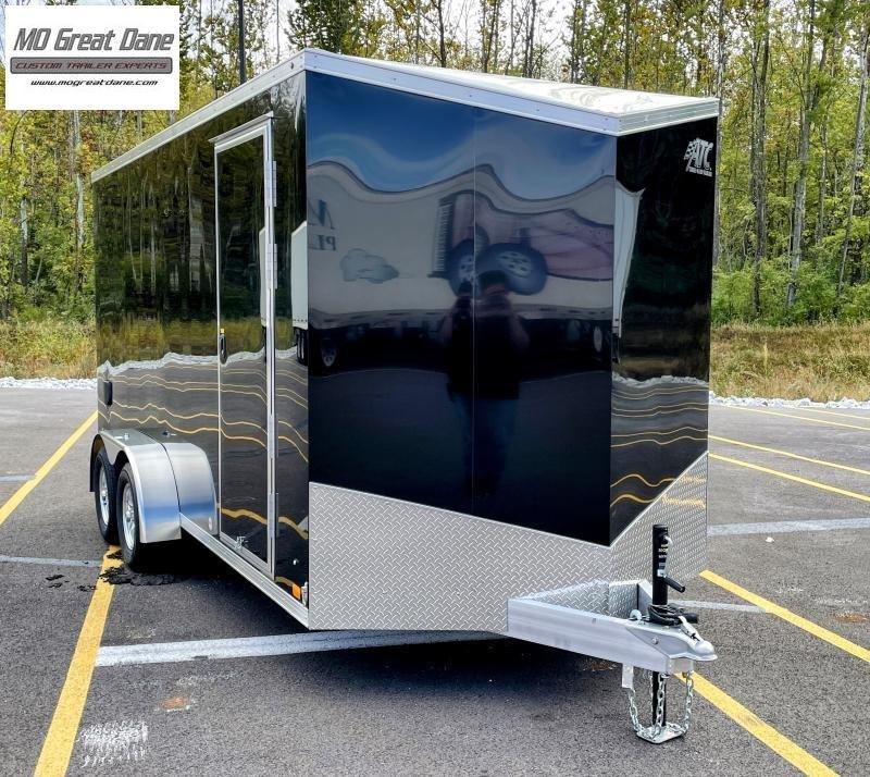 2022 ATC 7 x 16 Raven Aluminum Cargo / Enclosed Trailer - Black