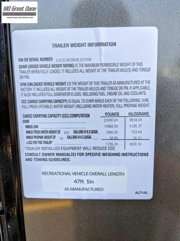 2021 ATC (4528) Pro Series Fifth Wheel Aluminum Toy Hauler RV