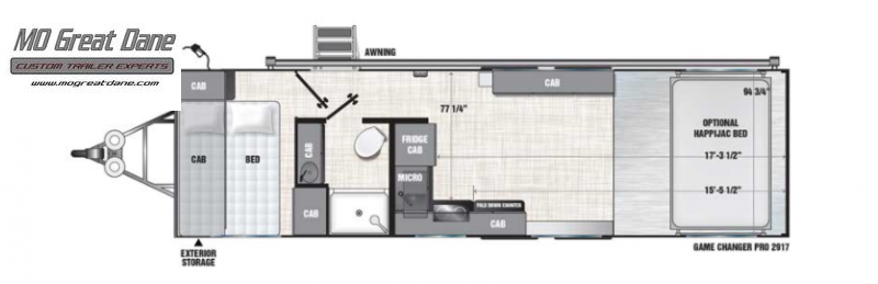 2022 ATC (2917) Pro Series Front Bedroom Aluminum Toy Hauler RV EXPECTED COMPLETION NOVEMBER