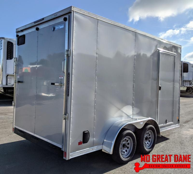 "2021 Darkhorse Cargo 7 x 14 - 90"" Interior V-Nose Cargo / Enclosed"