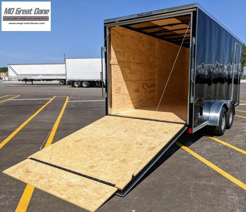 "2022 Darkhorse Cargo 7 x 16 V nose 84"" Interior Cargo Enclosed"