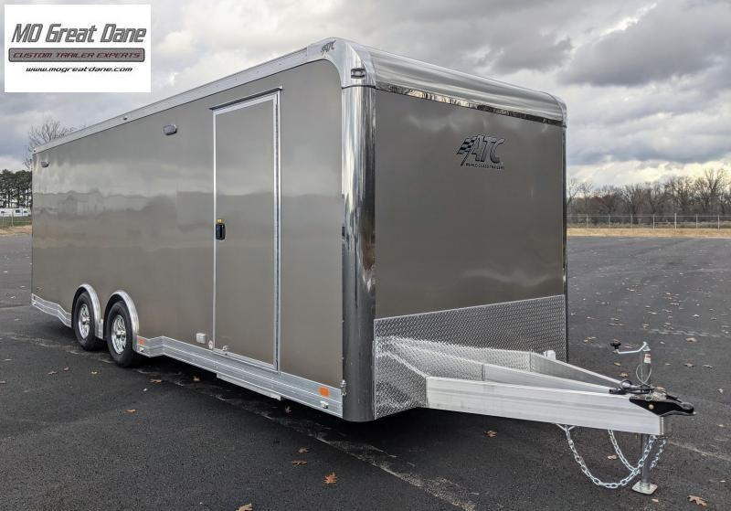 2022 ATC 8.5 x 24 Quest Limited Aluminum Car / Racing Trailer EXP COMPLETION DECEMBER - Pewter