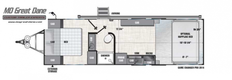 2022 ATC (2816) Pro Series Front Bedroom Aluminum Toy Hauler RV EXPECTED COMPLETION SEPTEMBER