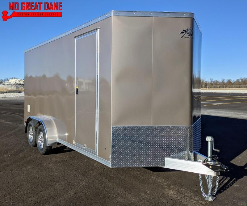 2021 ATC RAVEN 7 x 16 V-nose Aluminum Cargo / Enclosed Trailer EXP COMPLETION APRIL