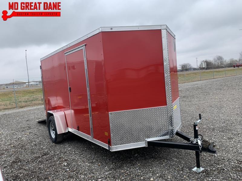 2021 Darkhorse Cargo 6 x 12 V Nose 72 Interior Enclosed Cargo Trailer