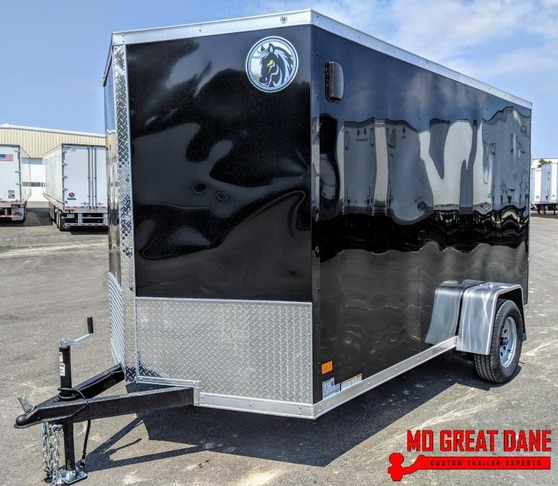 2020 Darkhorse Cargo 6.5 x 12 V-Nose Enclosed Cargo Trailer