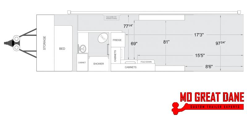 2020 ATC ARV 8.5 x 29 Front Bedroom Aluminum Toy Hauler RV