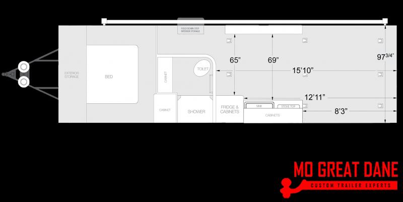 2020 ATC ARV 8.5 x 28 Front Bedroom Aluminum Toy Hauler RV