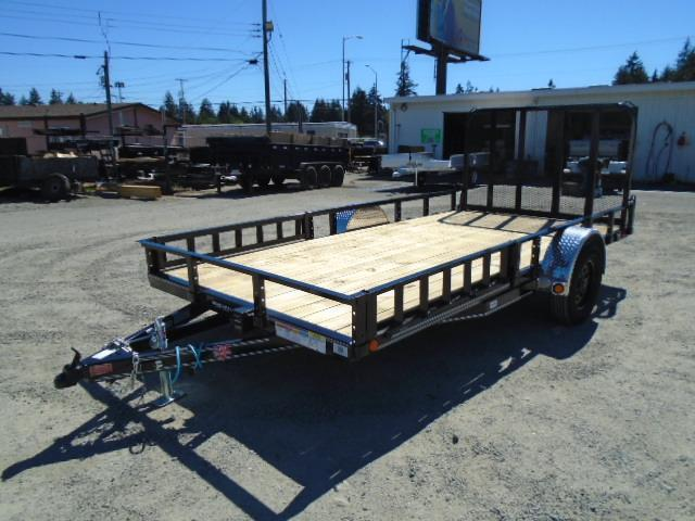 2022 PJ Trailers 7X14 with Side Mount ATV Ramps/Electric brake Utility Trailer