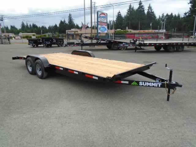 2022 Summit Cascade 7x20 10K Flatbed With Beavertail