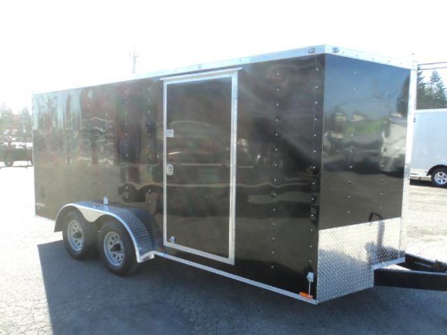 2021 Cargo Mate E-series 7x16 7K V-nose w/Rear Ramp Door