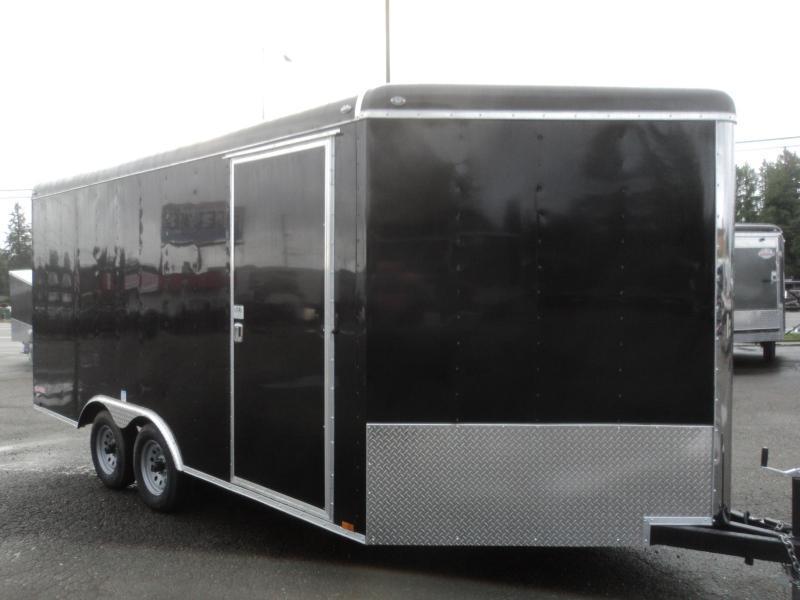 """2021 Cargo Mate Blazer 8.5x16 7K With 6"""" Extra Height / D-Rings / 4' Wedge / Ramp Door"""